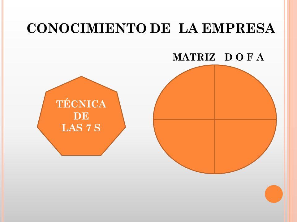 TÉCNICA DE LAS 7 S MATRIZ D O F A