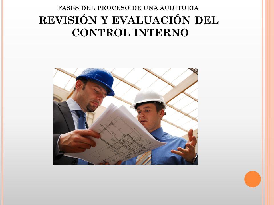FASES DEL PROCESO DE UNA AUDITORÍA REVISIÓN Y EVALUACIÓN DEL CONTROL INTERNO