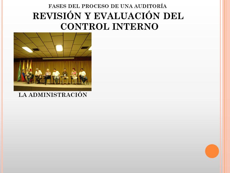 FASES DEL PROCESO DE UNA AUDITORÍA REVISIÓN Y EVALUACIÓN DEL CONTROL INTERNO LA ADMINISTRACIÓN