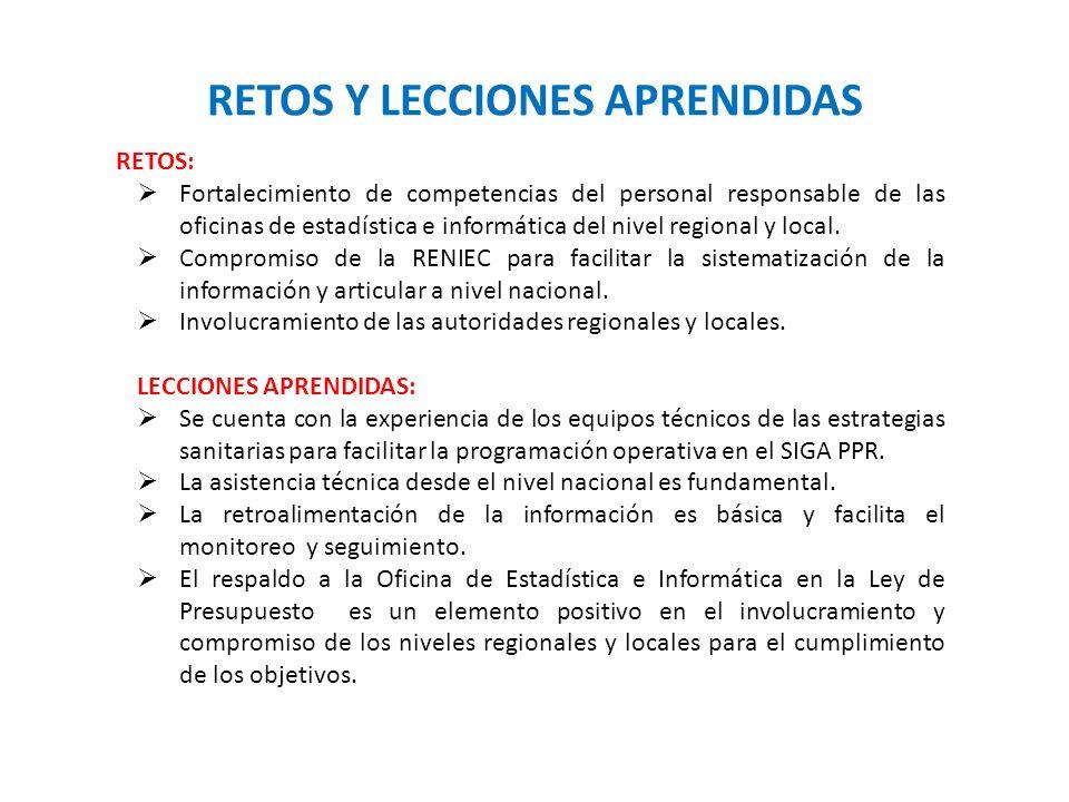 RETOS Y LECCIONES APRENDIDAS SOSTENIBILIDAD TECNICA Y FINANCIERA RETOS: Fortalecimiento de competencias del personal responsable de las oficinas de es