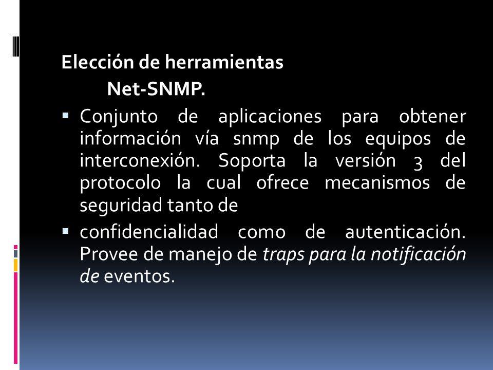 Elección de herramientas Net-SNMP.