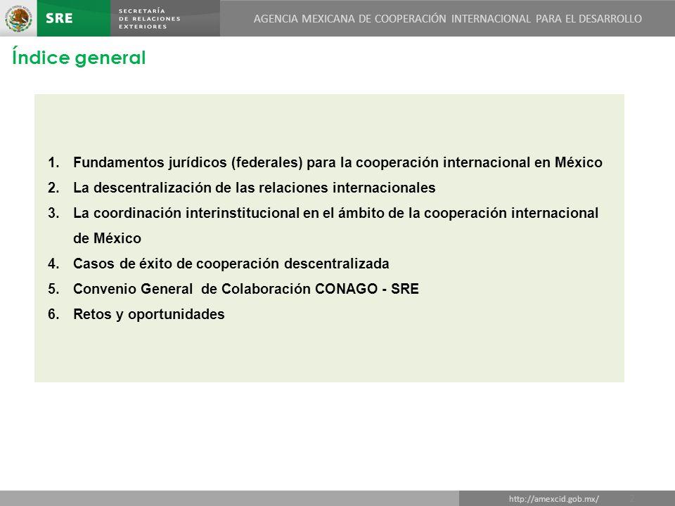AGENCIA MEXICANA DE COOPERACIÓN INTERNACIONAL PARA EL DESARROLLO DIRECCIÓN GENERAL DE COOPERACIÓN TÉCNICA Y CIENTÍFICA http://amexcid.gob.mx/ AGENCIA MEXICANA DE COOPERACIÓN INTERNACIONAL PARA EL DESARROLLO Gracias!!.