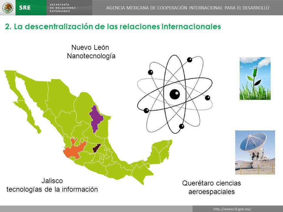 AGENCIA MEXICANA DE COOPERACIÓN INTERNACIONAL PARA EL DESARROLLO DIRECCIÓN GENERAL DE COOPERACIÓN TÉCNICA Y CIENTÍFICA http://amexcid.gob.mx/ AGENCIA MEXICANA DE COOPERACIÓN INTERNACIONAL PARA EL DESARROLLO 2.