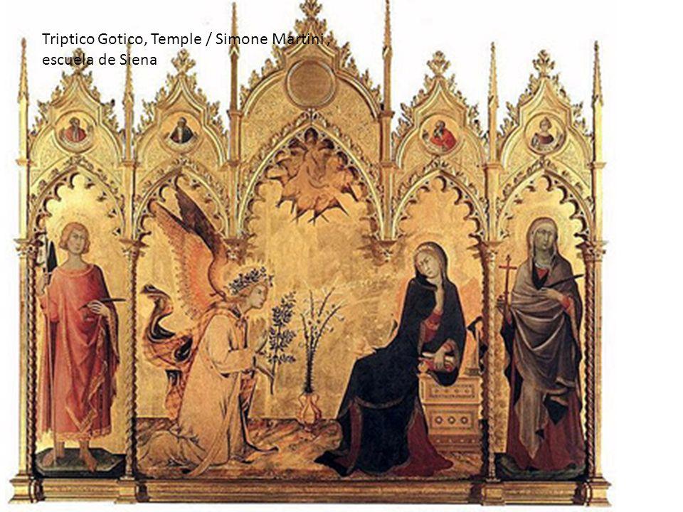 Triptico Gotico, Temple / Simone Martini, escuela de Siena
