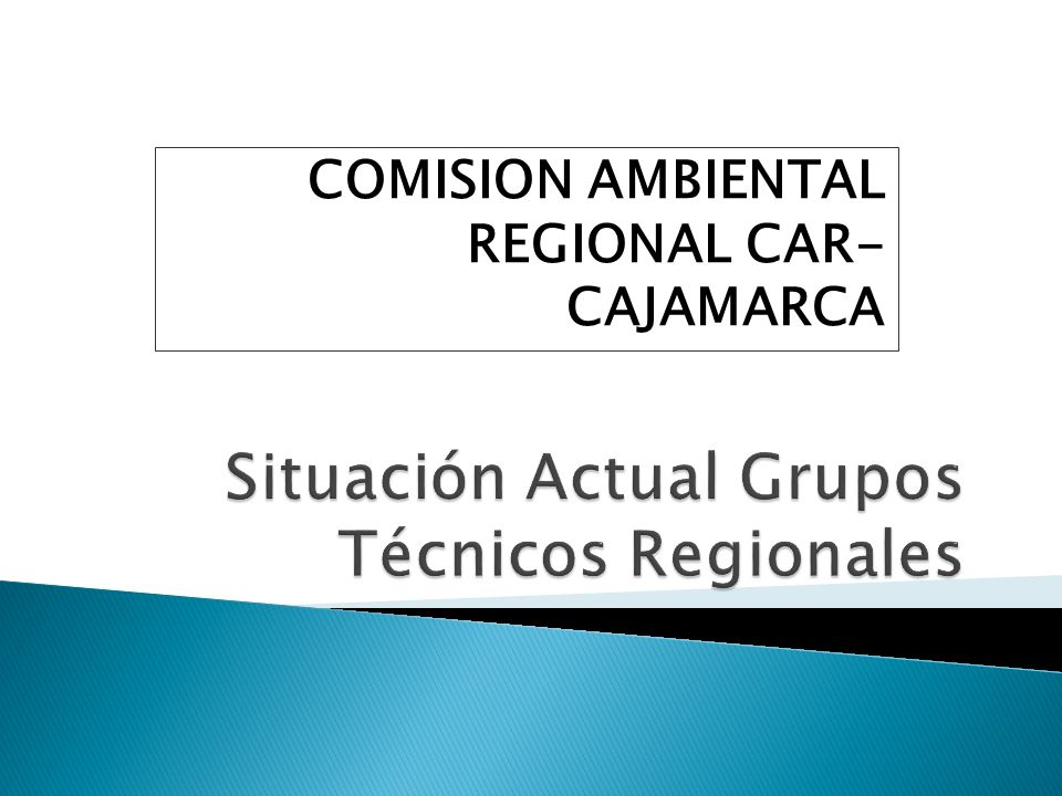 COMISION AMBIENTAL REGIONAL CAR- CAJAMARCA