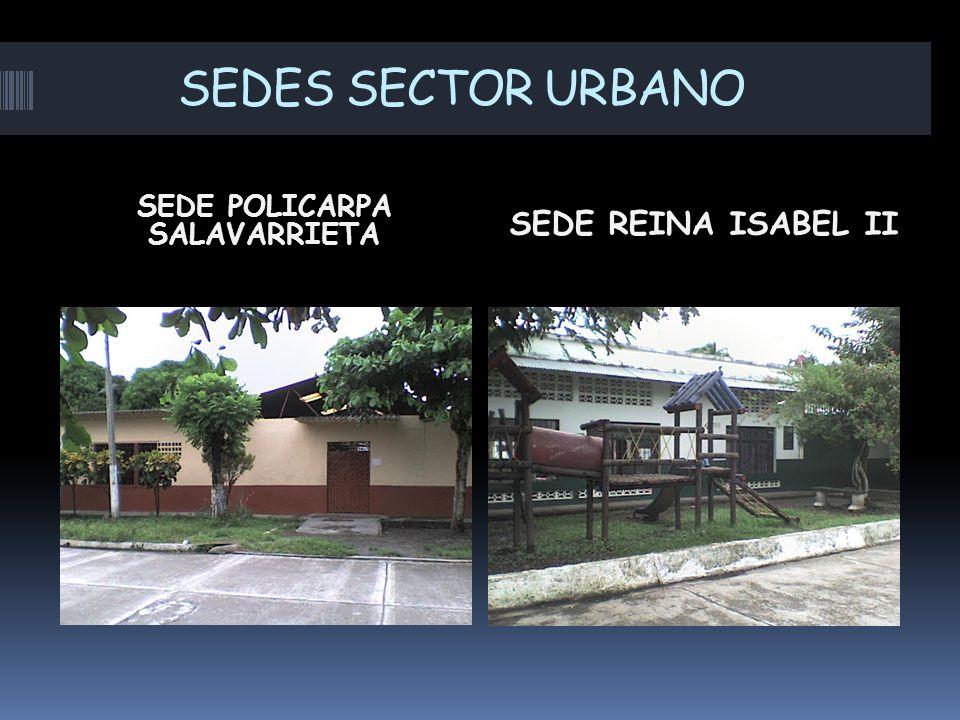 SEDES SECTOR URBANO SEDE POLICARPA SALAVARRIETA SEDE REINA ISABEL II