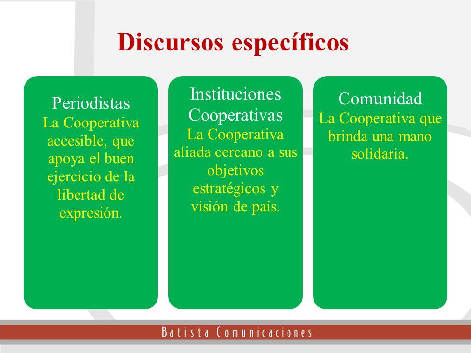 Periodistas La Cooperativa accesible, que apoya el buen ejercicio de la libertad de expresión. Instituciones Cooperativas La Cooperativa aliada cercan