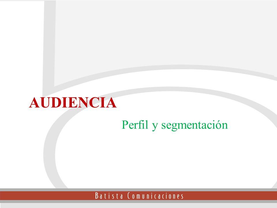 AUDIENCIA Perfil y segmentación