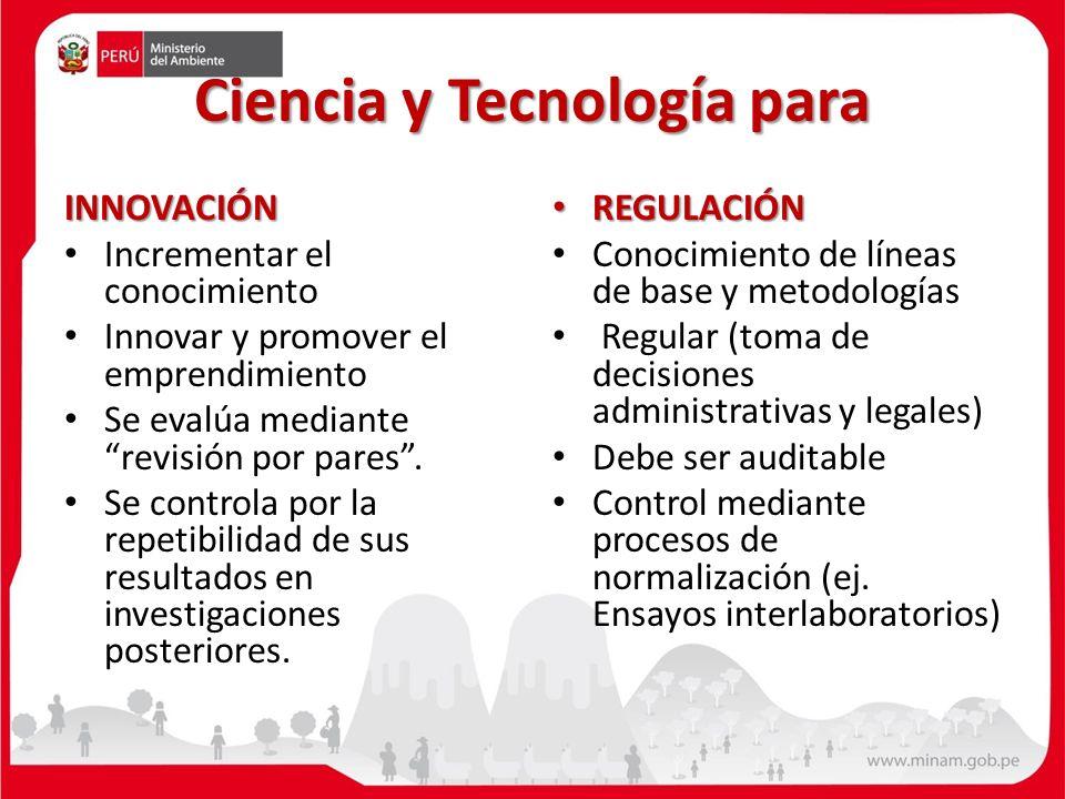 Ciencia y Tecnología para INNOVACIÓN Incrementar el conocimiento Innovar y promover el emprendimiento Se evalúa mediante revisión por pares.