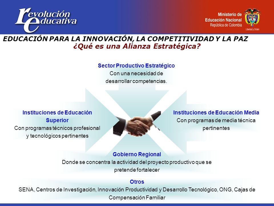 Sector Productivo Estratégico Con una necesidad de desarrollar competencias.