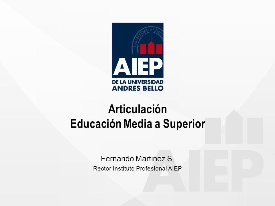 Articulación Educación Media a Superior Fernando Martinez S. Rector Instituto Profesional AIEP
