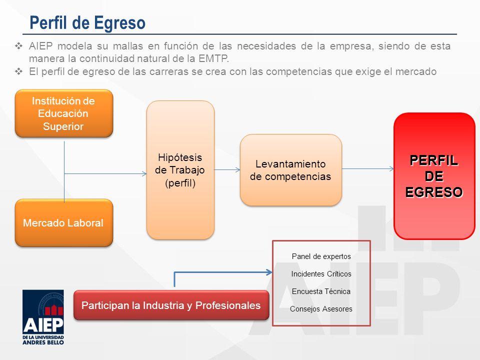 Perfil de Egreso PERFILDEEGRESO Institución de Educación Superior Mercado Laboral Hipótesis de Trabajo (perfil) Hipótesis de Trabajo (perfil) Levantam