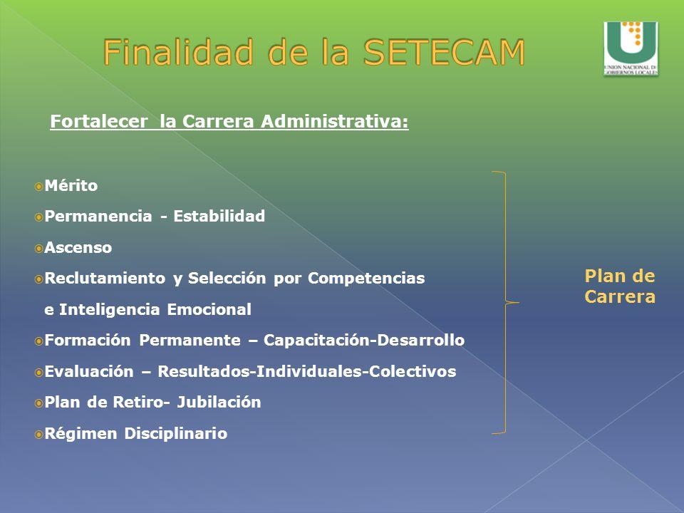 Mérito Permanencia - Estabilidad Ascenso Reclutamiento y Selección por Competencias e Inteligencia Emocional Formación Permanente – Capacitación-Desar