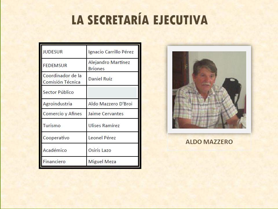 LA SECRETARÍA EJECUTIVA ALDO MAZZERO