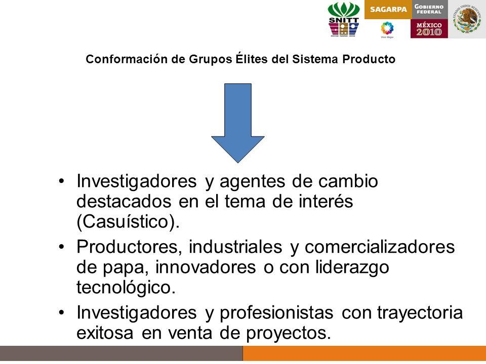 Investigadores y agentes de cambio destacados en el tema de interés (Casuístico).