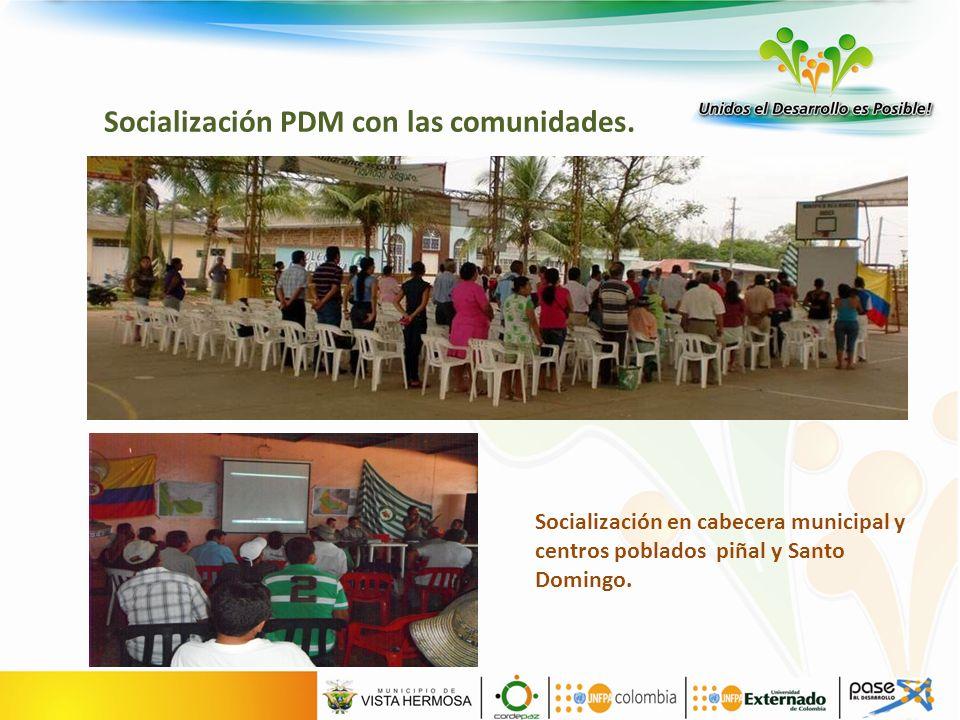 Socialización PDM con las comunidades.
