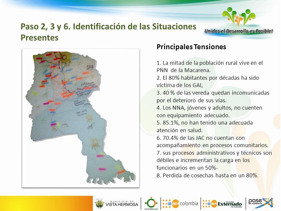 Principales Tensiones 1. La mitad de la población rural vive en el PNN de la Macarena.