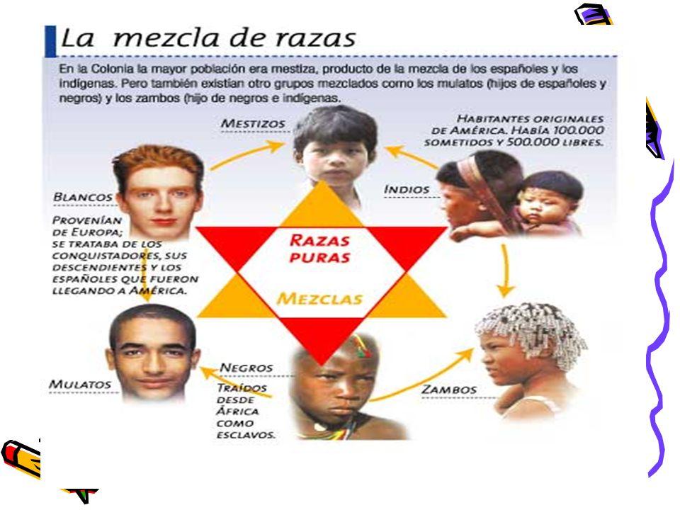 Mestizos: Los mestizos surgieron del contacto entre los conquistadores españoles y las mujeres indias.