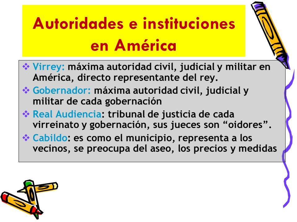 Autoridades e Instituciones en España oRey: Máxima autoridad quien organiza los territorios administrados por instituciones.