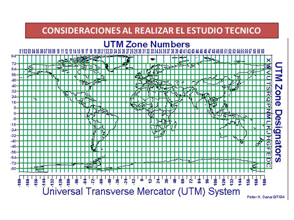 CONSIDERACIONES AL REALIZAR EL ESTUDIO TECNICO