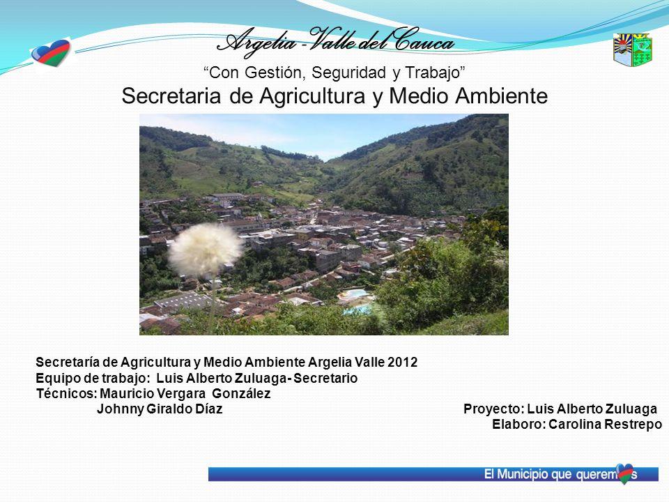 Argelia -Valle del Cauca Con Gestión, Seguridad y Trabajo Secretaria de Agricultura y Medio Ambiente Secretaría de Agricultura y Medio Ambiente Argeli