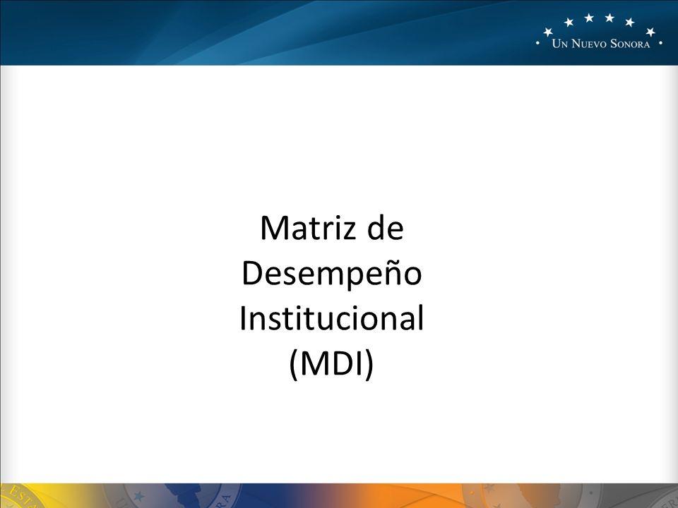 Matriz de Desempeño Institucional (MDI)