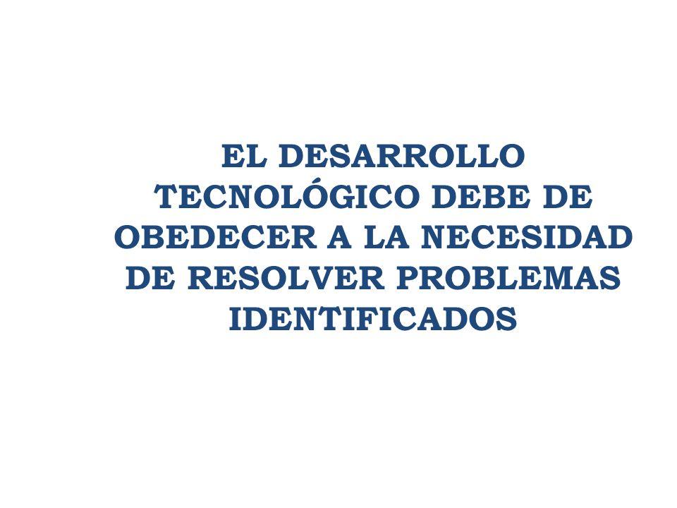 1. APORTE Y BENEFICIO TRIPARTITO EL DESARROLLO TECNOLÓGICO DEBE DE OBEDECER A LA NECESIDAD DE RESOLVER PROBLEMAS IDENTIFICADOS