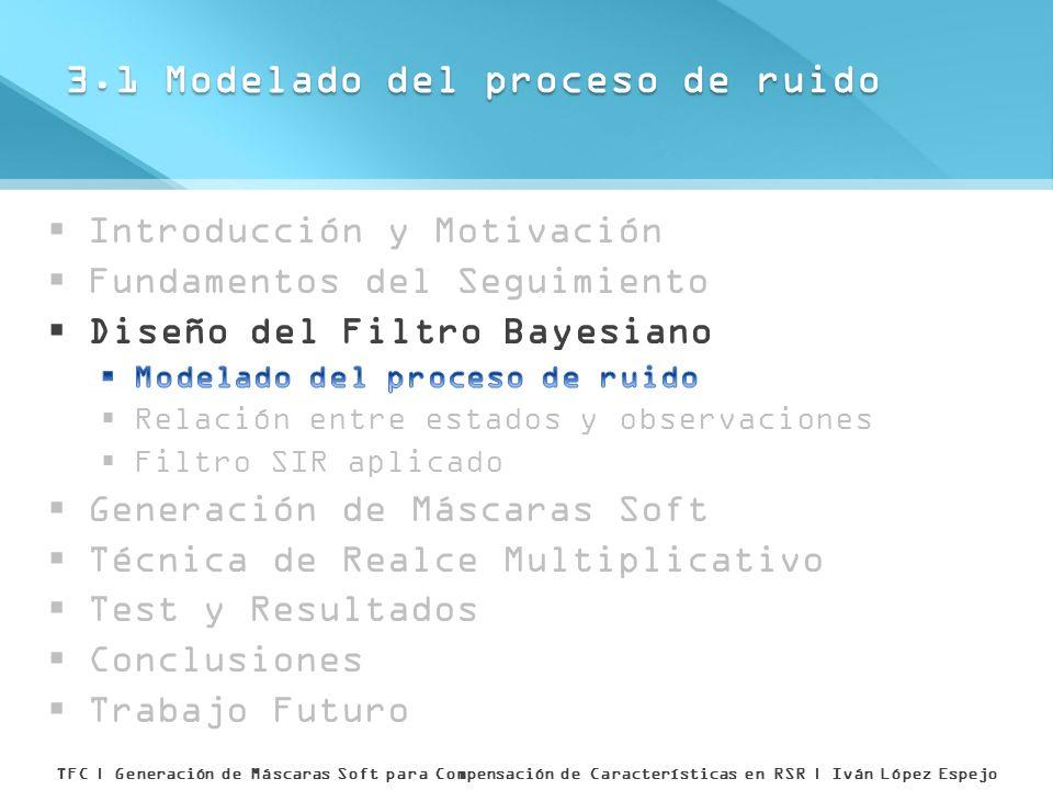 3.1 Modelado del proceso de ruido TFC | Generación de Máscaras Soft para Compensación de Características en RSR | Iván López Espejo