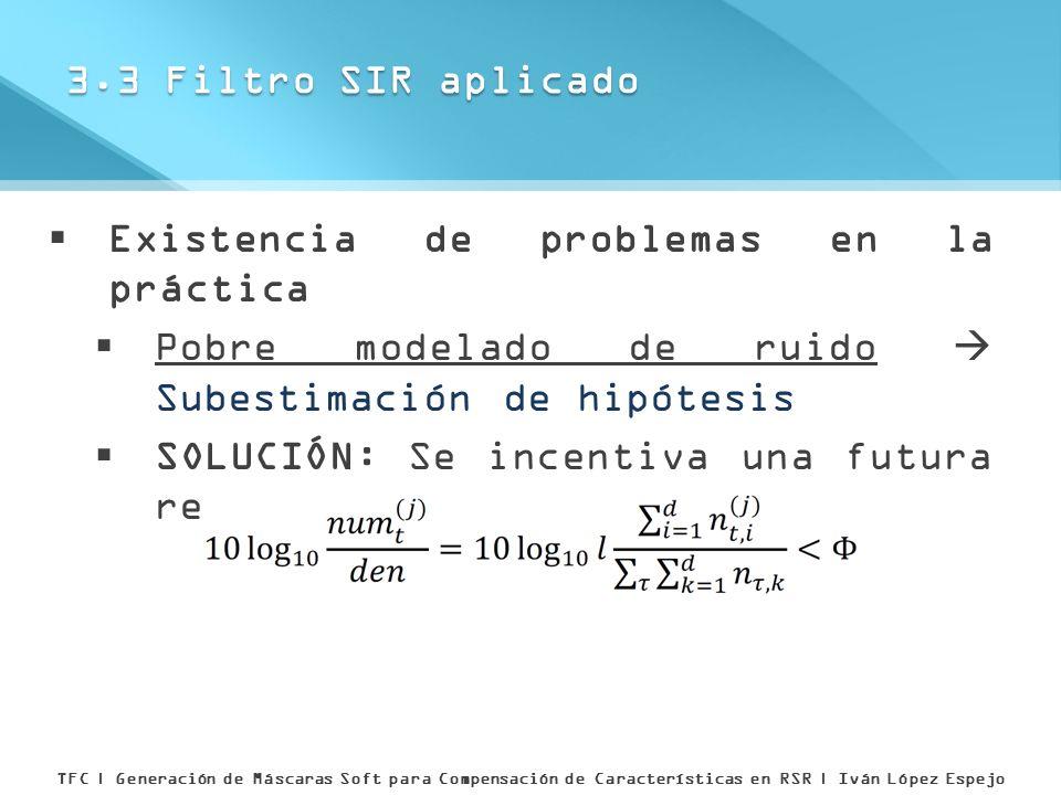 Existencia de problemas en la práctica Pobre modelado de ruido Subestimación de hipótesis SOLUCIÓN: Se incentiva una futura reinicialización si 3.3 Fi