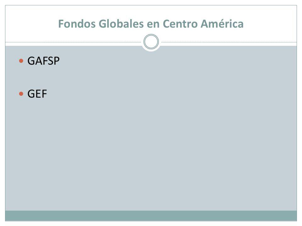 Fondos Globales en Centro América GAFSP GEF