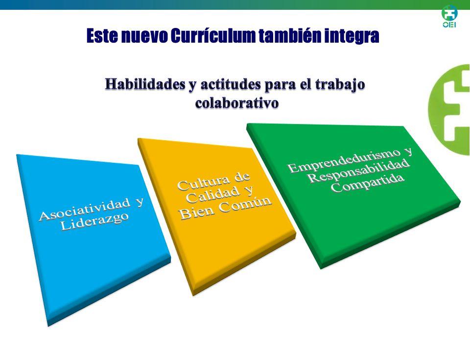 Este nuevo Currículum también integra