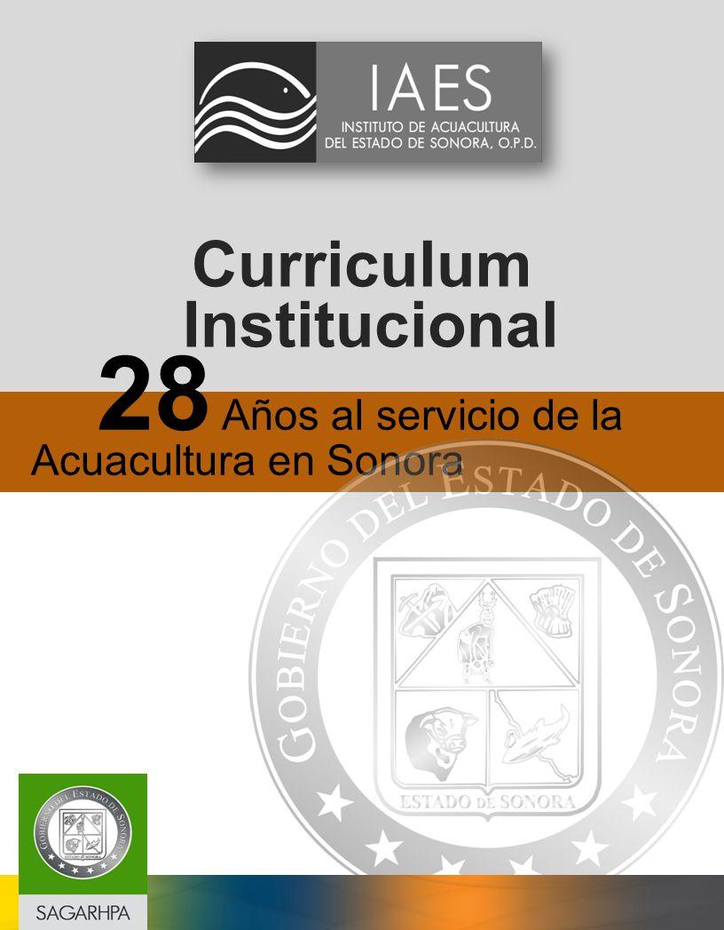 Curriculum Institucional 28 Años al servicio de la Acuacultura en Sonora