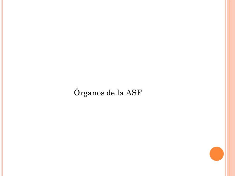 Órganos de la ASF