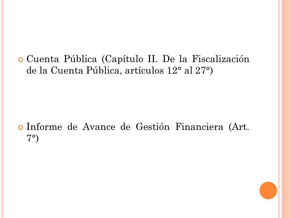 Cuenta Pública (Capítulo II.