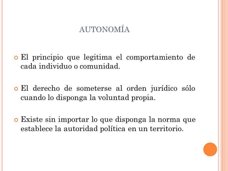 A UTONOMÍA CONSTITUCIONAL VS.