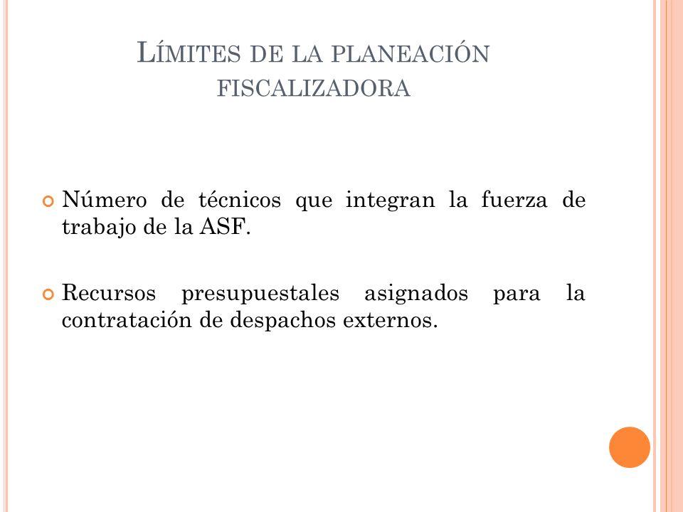 L ÍMITES DE LA PLANEACIÓN FISCALIZADORA Número de técnicos que integran la fuerza de trabajo de la ASF.