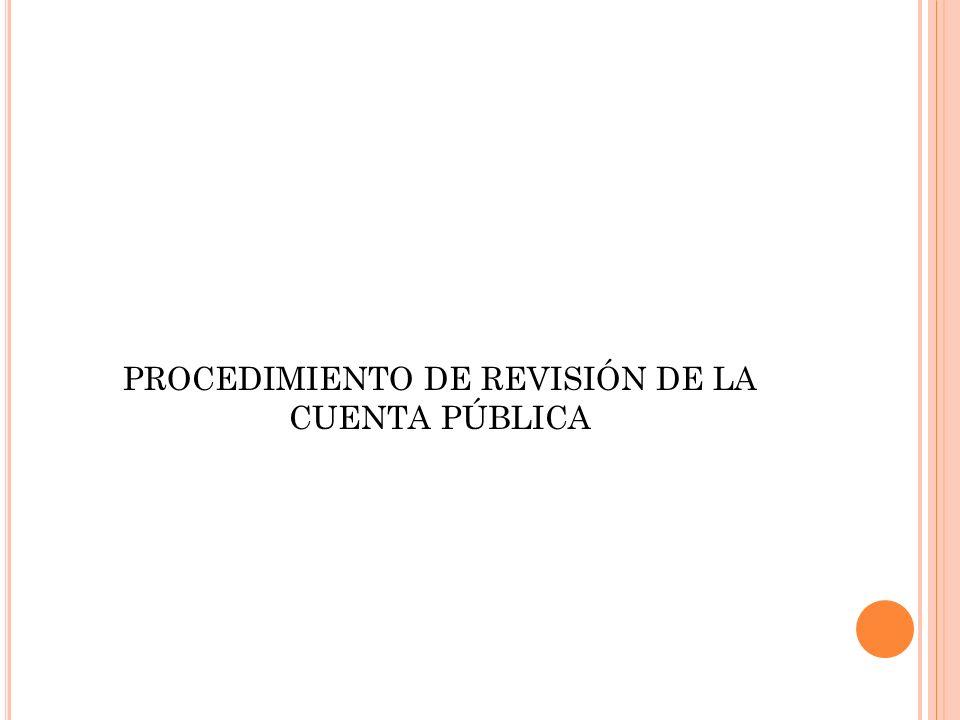 PROCEDIMIENTO DE REVISIÓN DE LA CUENTA PÚBLICA