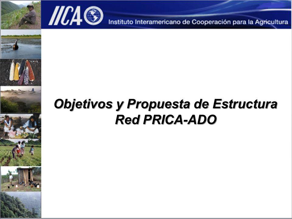 Objetivos y Propuesta de Estructura Red PRICA-ADO