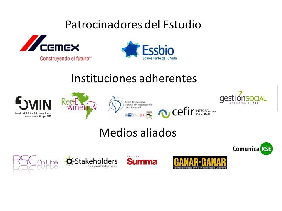 Patrocinadores del Estudio Instituciones adherentes Medios aliados