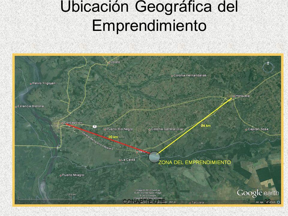Ubicación Geográfica del Emprendimiento 22CONAPTIE-UTE