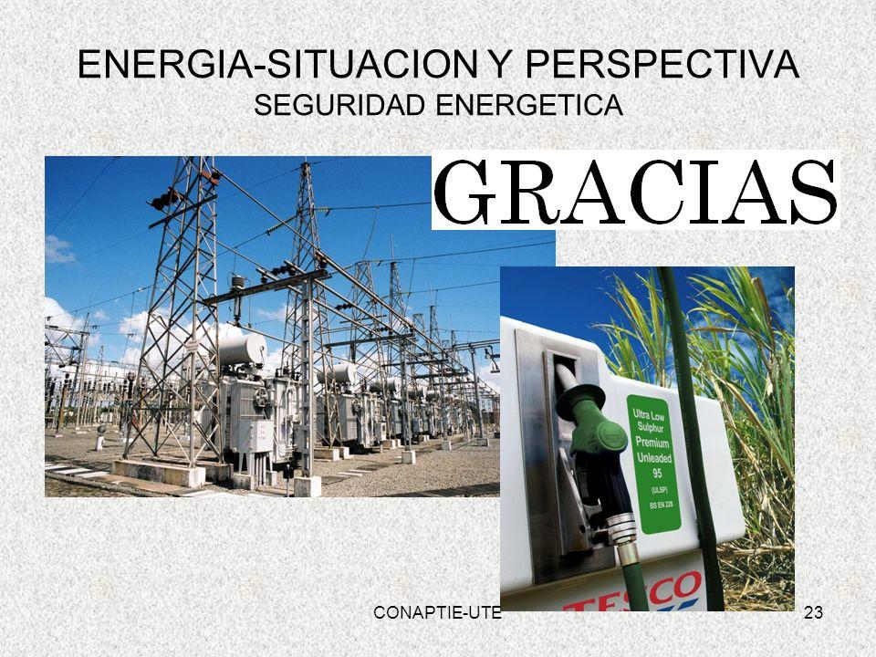 23 ENERGIA-SITUACION Y PERSPECTIVA SEGURIDAD ENERGETICA CONAPTIE-UTE