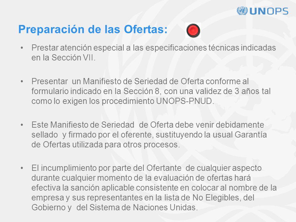 FORMA DE PRESENTACIÓN Oferta EconómicaOferta Técnica
