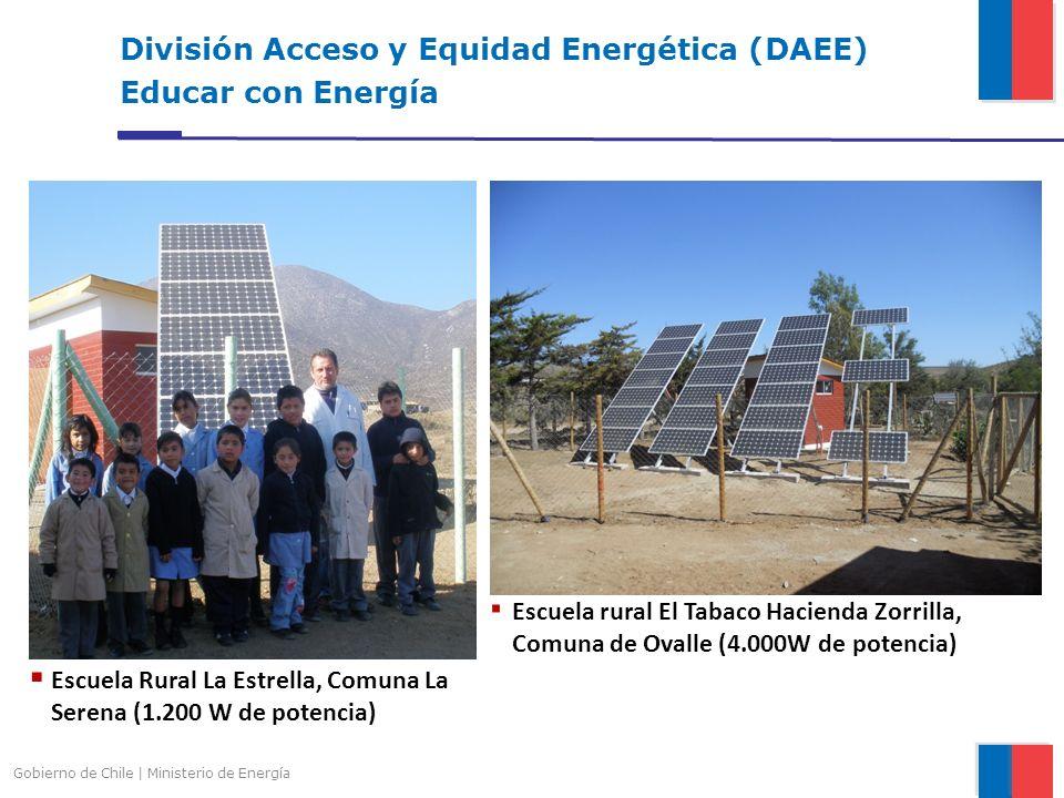 División Acceso y Equidad Energética (DAEE) Educar con Energía Gobierno de Chile | Ministerio de Energía Escuela Rural La Estrella, Comuna La Serena (