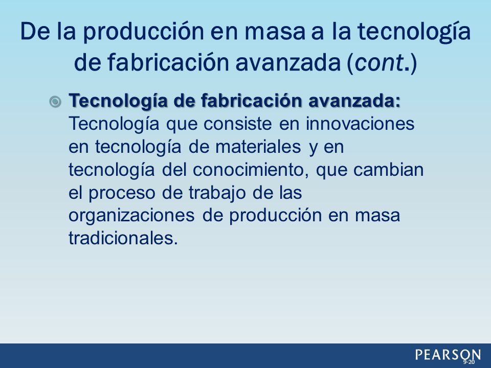 Tecnología de fabricación avanzada: Tecnología de fabricación avanzada: Tecnología que consiste en innovaciones en tecnología de materiales y en tecnología del conocimiento, que cambian el proceso de trabajo de las organizaciones de producción en masa tradicionales.