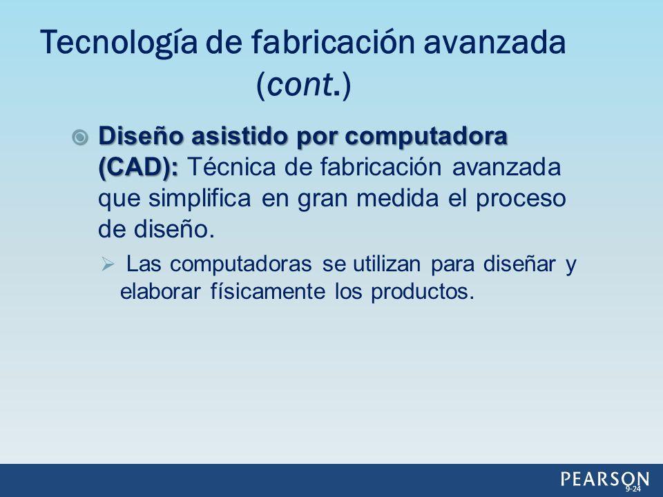 Diseño asistido por computadora (CAD): Diseño asistido por computadora (CAD): Técnica de fabricación avanzada que simplifica en gran medida el proceso de diseño.