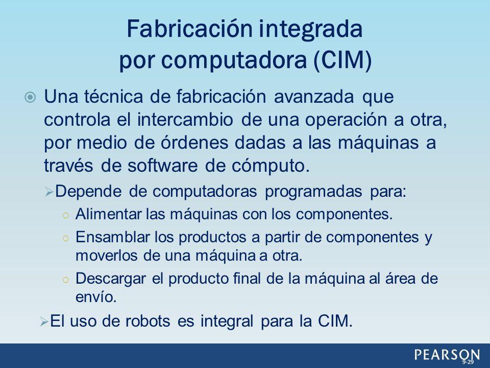 Una técnica de fabricación avanzada que controla el intercambio de una operación a otra, por medio de órdenes dadas a las máquinas a través de softwar