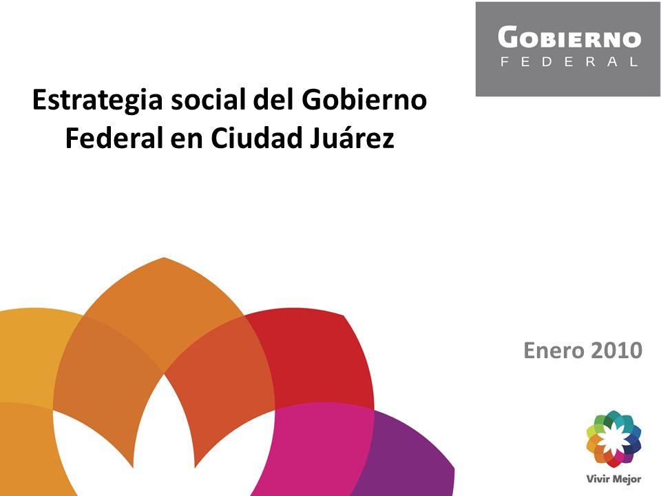 Estrategia social del Gobierno Federal en Ciudad Juárez Enero 2010