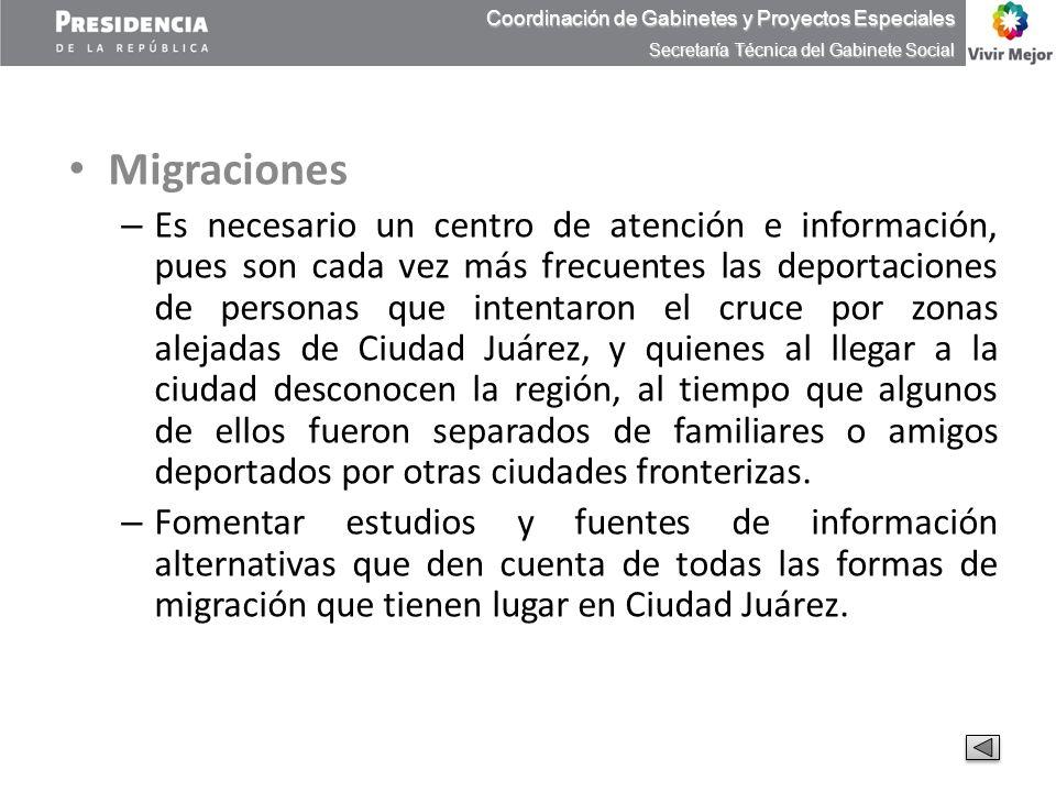 Migraciones – Es necesario un centro de atención e información, pues son cada vez más frecuentes las deportaciones de personas que intentaron el cruce