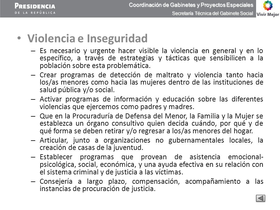 Violencia e Inseguridad – Es necesario y urgente hacer visible la violencia en general y en lo específico, a través de estrategias y tácticas que sens