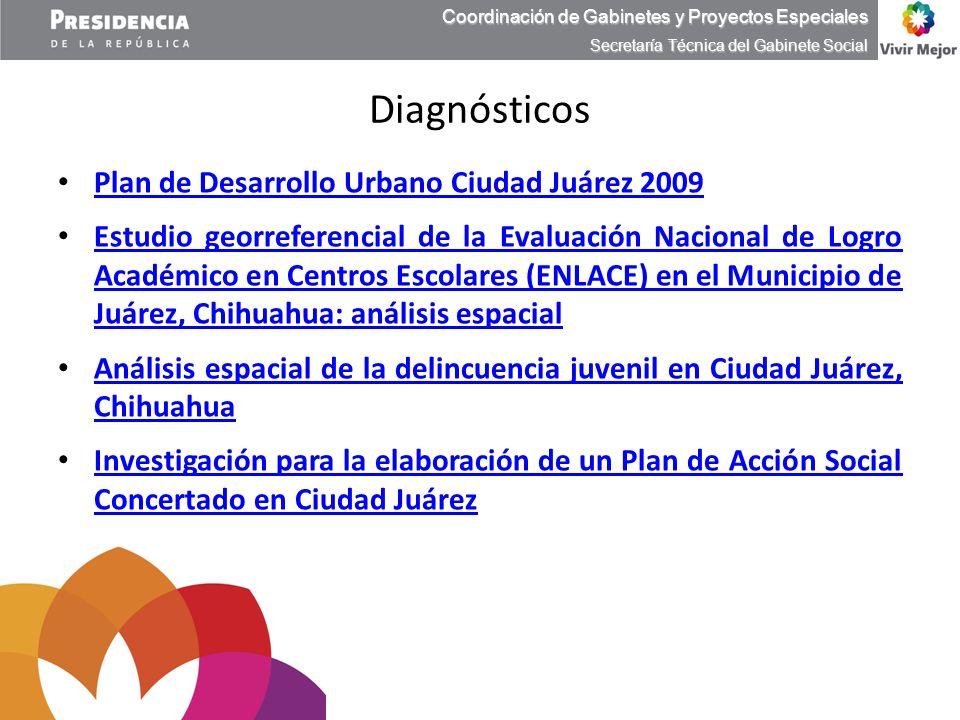 Plan de Desarrollo Urbano Ciudad Juárez 2009 Plan de Desarrollo Urbano Ciudad Juárez 2009 Estudio georreferencial de la Evaluación Nacional de Logro A
